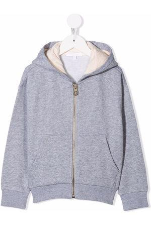 Chloé Kids Logo-embroidered hoodie
