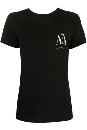 Armani Damen Shirts - Logo-print cotton T-shirt