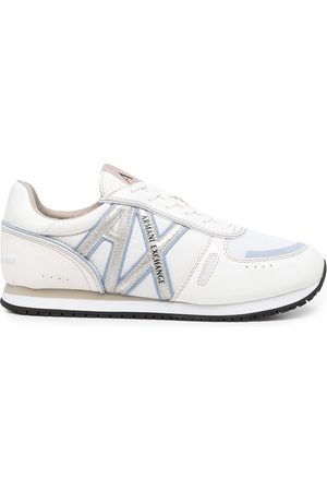 Armani Logo-patch lace-up sneakers