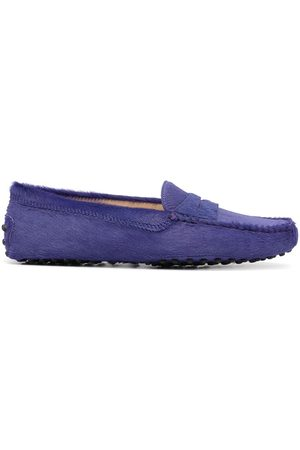 Tod's Round-toe textured-finish loafers