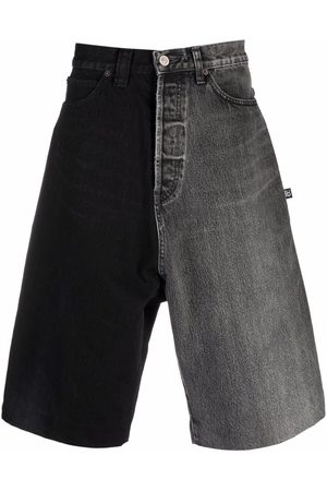 Balenciaga Two-tone denim shorts