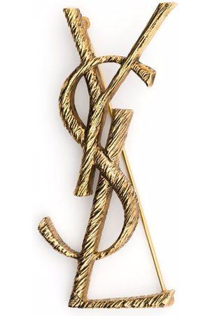 Saint Laurent Logo letter brooch
