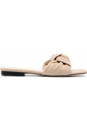 BY FAR Suede-knot sandals