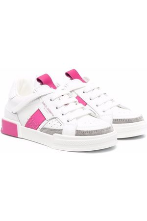 Dolce & Gabbana Kids Colour-block leather sneakers