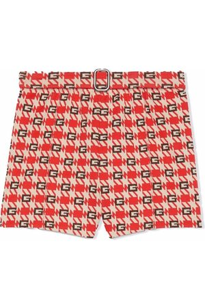 Gucci G check belted shorts