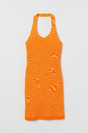 H&M Damen Kleider - Neckholder-Feinstrickkleid
