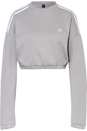 adidas Damen Sweatshirts - Cropped-Sweatshirt Crop Crew grau