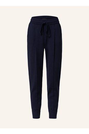 Windsor Damen Jogginghosen - 7/8-Strickhose Im Jogging-Stil blau