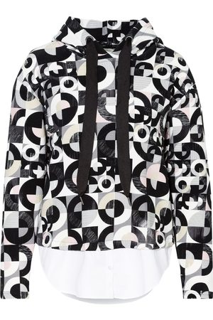 lilienfels Damen Sweatshirts - Hoodie Im Materialmix