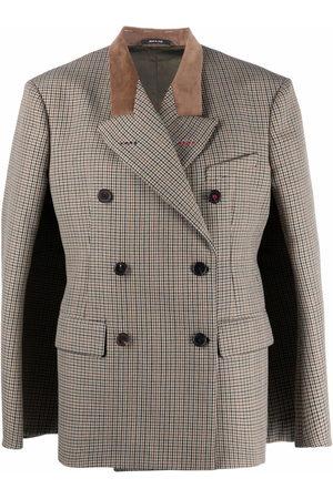 Maison Margiela Houndstooth double-breasted blazer