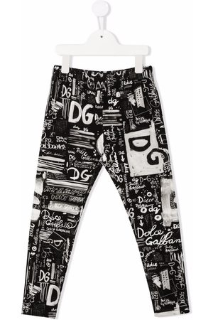 Dolce & Gabbana Graffiti-print stretch leggings