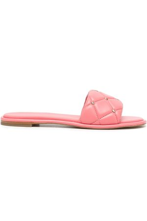 Michael Kors Rina quilted leather slides