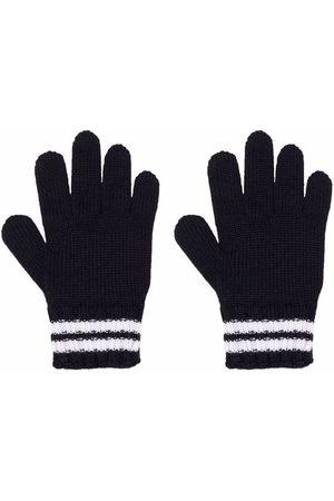Moncler Logo-patch striped gloves