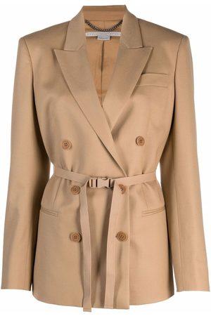 Stella McCartney Damen Blazer & Sakkos - Lola peak-lapel buckle-fastening blazer
