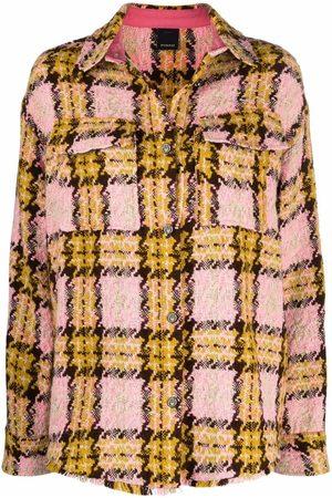 Pinko Check-pattern oversized jacket
