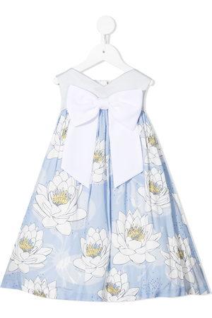 HUCKLEBONES LONDON Sweetheart floral-print trapeze dress