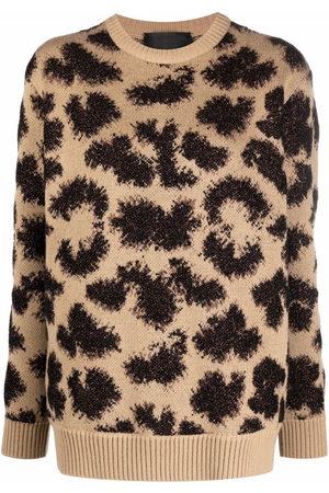 Philipp Plein Long-sleeved lurex leopard jumper
