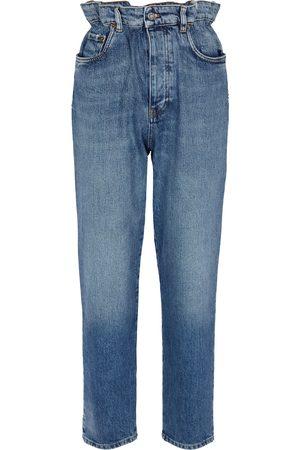 Miu Miu High-Rise Paperbag Jeans
