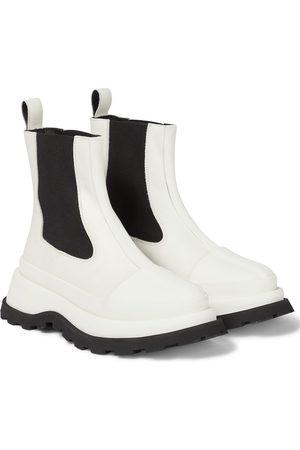 Jil Sander Damen Stiefeletten - Chelsea Boots aus Leder