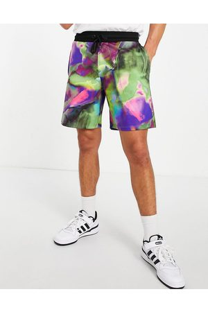 ASOS DESIGN Co-ord festival oversized track jacket with all over print-Multi