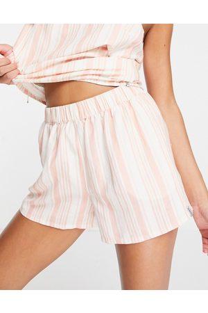 Rhythm Montana co-ord high waist beach shorts in red and white stripe