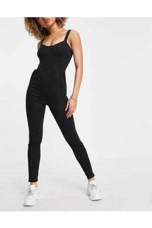 Parisian Denim cami strap jumpsuit in black