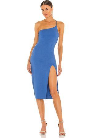 Lovers + Friends Lazo Midi Dress in - Blue. Size L (also in XXS, XS, S, M, XL).