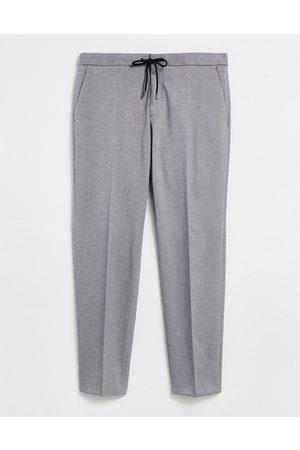 HUGO BOSS Business Banks elasticated waist trousers-Blue