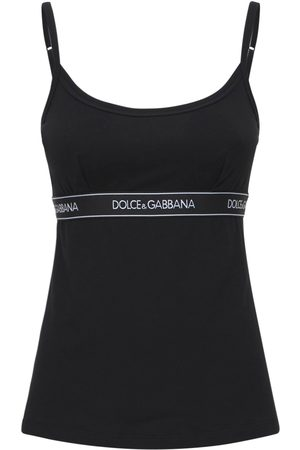 Dolce & Gabbana Damen Spaghettitops - Camisole-oberteil Aus Baumwolljersey