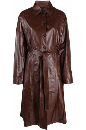 AMBUSH Belted leather trench coat