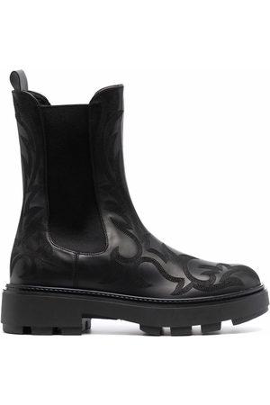 Miu Miu Damen Stiefeletten - Western-motif Chelsea boots