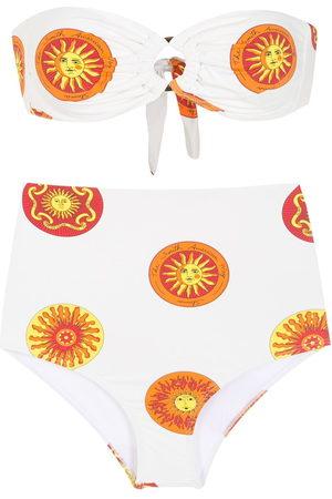 AMIR SLAMA Printed high rise bikini set