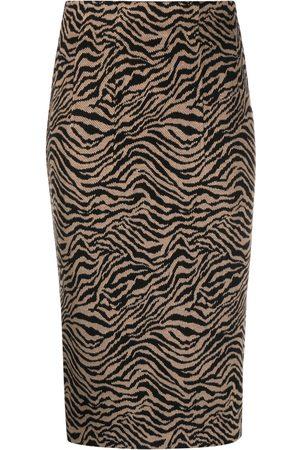 Pinko Tiger-print pencil skirt