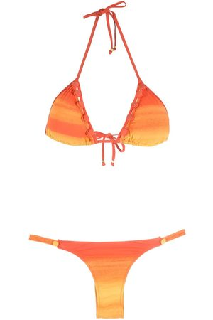 AMIR SLAMA Triangle ombré bikini set