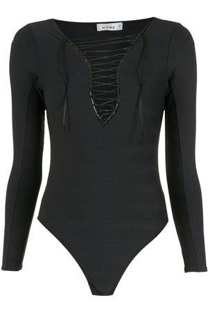 AMIR SLAMA Lace-neck bodysuit