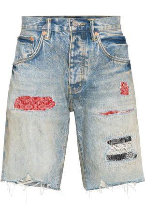 Purple Brand Distressed denim shorts