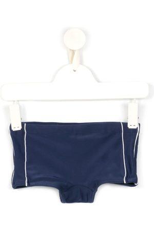 AMIR SLAMA Stipe-detail swim trunks