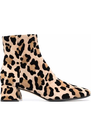 Sergio Rossi Leopard-print ankle boots