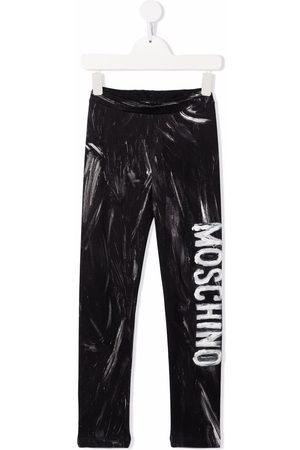 Moschino Painted logo leggings