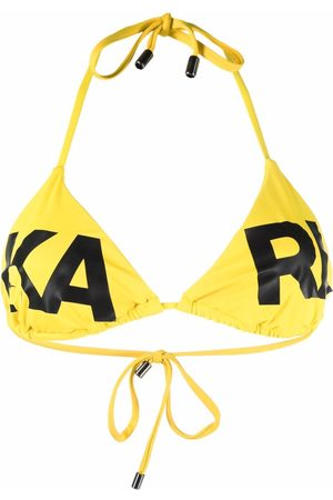 Karl Lagerfeld Damen Bikinis - Logo-print triangle-cup bikini top