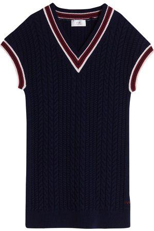 Victoria Victoria Beckham Contrast-trim sweater dress