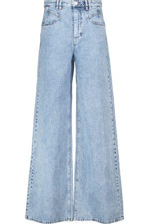 Isabel Marant High-Rise Flared Jeans Lemony
