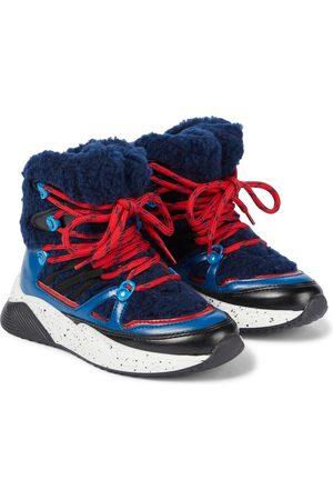 Stella McCartney Ankle Boots mit Fleece-Besatz