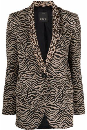 Pinko Zebra-print single-breasted blazer