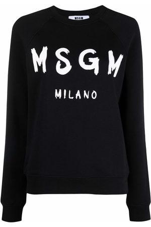 Msgm Logo-print crew neck sweatshirt