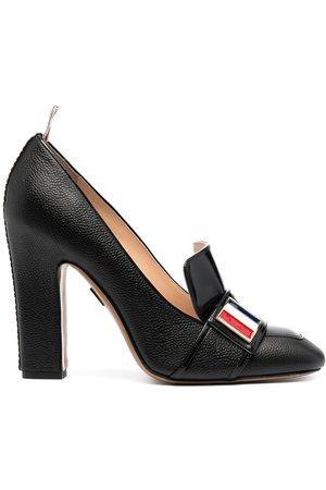 Thom Browne Damen Halbschuhe - Block-heeled loafers with logo enamel detail