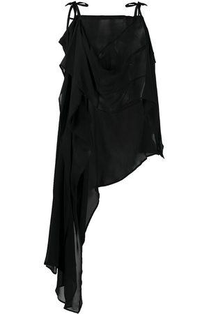 ANN DEMEULEMEESTER Damen Asymmetrische Kleider - Asymmetric midi dress