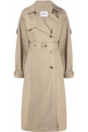 AMBUSH Damen Trenchcoats - SIDE SLIT TRENCH NATURAL NO COLOR