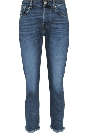7 for all Mankind Damen High Waisted - Mid-Rise Jeans Asher