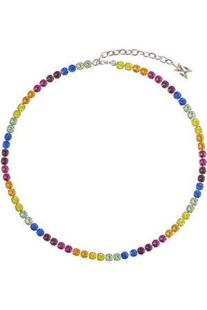 Amina Muaddi Halskette Tennis mit Kristallverzierung